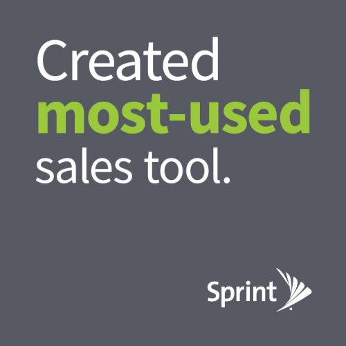 Sprint: Created Most-Used Sales Tool