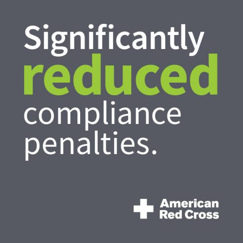 Red Cross: Significantly Reduced Compliance Penalties